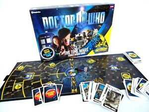 Doctor Who-The Time Wars Family Board Game-Flip board action-2009 Imagination