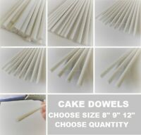 "CAKE DOWELS  Rods 8"" 9"" 12"" Support Tiered Cakes Wedding Sugarcraft  DOWELS"