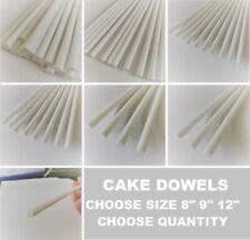 "QUALITY White Plastic CAKE DOWELS 12"" 8"" 9"" Support Wedding Sugarcraft DOWELLING"