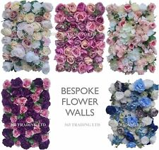 Bespoke Rose Flower Wall Panels Artificial Silk Wedding Decor Party Home Floral