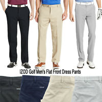 IZOD Men's Golf Performance Flat Front Classic Stretch Dress Pants