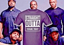 STRAIGHT OUTTA (YOUR TEXT HERE) COMPTON T SHIRT GIFT PRESENT FUNNY SIZES S-XXL