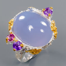 Chalcedony Ring Silver 925 Sterling Jewelry fashion women Size 8.5 /R141614