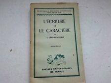 L ECRITURE ET LE CARACTERE PAR J. CREPIEUX JAMIN *