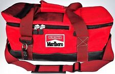 Marlboro Divided Red Insulated Duffel Soft Ice Cooler Cold Bag Travel Overnight
