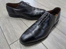 made in usa BROOKS BROTHERS cap-toe 13 D black dress shoes
