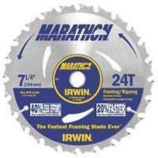 "NEW IRWIN LOT (10) 24030 MARATHON 7 1/4"" X 24 FRAME CARBIDE CIRCULAR SAW BLADES"