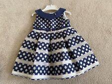 Designer Girls Mayoral Blue Polka Dot Party Dress Aged 2