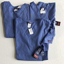 New listing 3 Cherokee Workwear Style 4700 V-Neck Women's Nurse Scrub Top Xl Ceil Blue ~New~