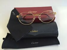 NIB Cartier Unisex Writer Pantos Rimmed Prescription Eyeglasses Frame