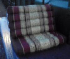 THAI TRIANGLE CUSHION ONE FOLD BROWN/MAROON  FAIRTRADE BRAND NEW UK DISPATCH
