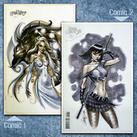 ASPEN: SHRUGGED and LEGEND OF THE SHADOW CLAN - J. Scott Campbell (set of 2)