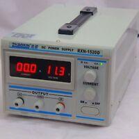 New Digital Rxn-1520D Linear Dc Adjustable Power Supply Meter 0-15V,0-20A E 220V