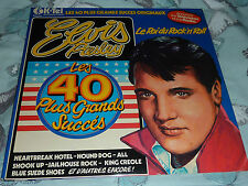 2x LP - ELVIS PRESLEY - LES 40 PLUS GRANDS SUCCES ORIGINAUX - FRENCH K-TEL EP001