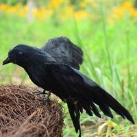 Artificial Crow Garden Flocked Halloween Decoration Birds Crow Decoy Raven IY