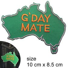 G-Day Mate Iron on patch Good day Australia map Aussie mates Oz iron-on patches