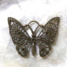 "1 Perle Spacer ""Papillon filigrane""  BRONZE - 36X47 MM -  Trous naturels"