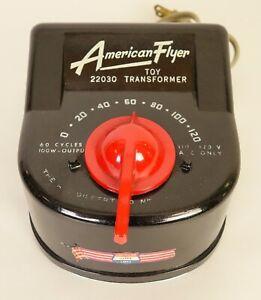 AMERICAN FLYER #22030 SUPER CLEAN 100 WATT TRANSFORMER ONLY MADE IN 1958-EX+!