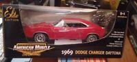 1/18 Ertl American Muscle 1969 Dodge Charger Daytona Chase Red/Black 1/209 MIB
