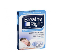 Breathe Right Nasal Strips Clear Small/Medium 10 Pack   New & Sealed
