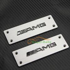 Fit Mercedes-Benz AMG Car Sports Floor Mat Carpet M Emblem Badges Plate