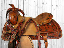 17 Roping Roper Ranch Work Leather Western Horse Cowboy Saddle Tack