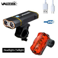 20000LM Super Bright Dual T6 LED Mountain Bike Head Light USB Rechargeable Lamp