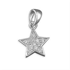 Silver / C Z Star Pendant and Chain