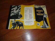 BROCHURE,L'amante del torero Bullfighter and the Lady,Budd Boetticher,Stack,PAGE
