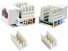 25 Pcs lot Keystone Jack Cat5e White Network Ethernet 110 Punchdown 8P8C RJ45