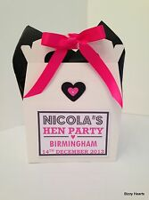 Personalised HEN NIGHT DO PARTY ACTIVITY BOX GIFT BAG FAVOUR With Tissue Paper