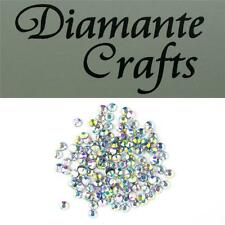 144 ss20 Clear Iridescent Diamante 5mm Iron On Hotfix Rhinestone Loose Gems