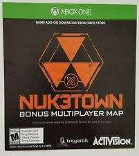 XBOX ONE Call of Duty Black Ops III 3 *NUK3TOWN/NUKETOWN MAP VOUCHER CARD ONLY*