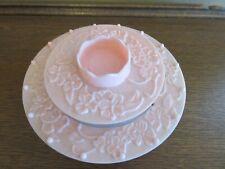 VTG Pink Plastic Lazy Susan Carousel Sewing Caddy w/Thread Spool Organizer EUC