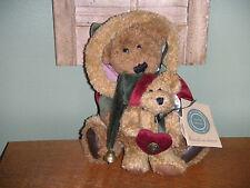 "Boyds Bears Chenille 1997 ~10"" Poppa Bear & Noelle~ J.B. Bean Collection"