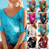Women Summer Cold Shoulder Loose Top Blouse Ladies Cut Out Casual Tops T-Shirt