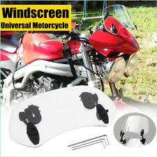 28cm Parabrezza regolabile deflettore Aria Parabrezza Anteriore Moto Windshield