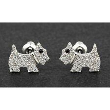 Equilibrium Pave Westie Dog  Stud Earrings