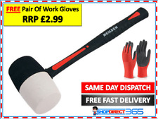 16 OZ Rubber Hammer Mallet Non Marking Fibreglass Shaft Handle With Grip CT3553