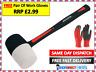 16 OZ Rubber Hammer Mallet Non Marking Fibreglass Shaft Handle With Grip CT3553
