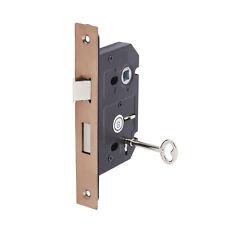 Door Handles Entrance Set Euro profils Sash Lock Metal Powder pelliculés handle New