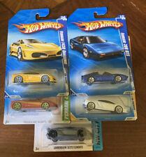 Hot Wheels RARE Ferrari/Lamborghini Lot Of 5!! (308 GTS, F430, Treasure Hunt)