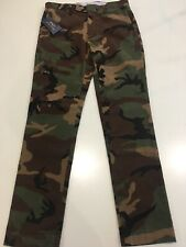 Polo Ralph Lauren. Micro cord camouflage trousers. Slim stretch fit. W28 L30.