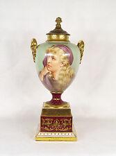Antique Austrian Royal Vienna Porcelain Urn Signed R. Heim c 1910