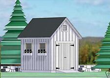 SHED PLANS BLUEPRINTS  8FT x 12FT TRADITIONAL STYLE