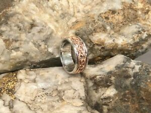 Official Welsh Clogau Silver & Rose Gold Annwyl Ring £150 off! SIZE W