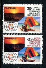 Philippines 1484-1485,MNH.Michel 1373-1374. Tourism Conference.Catamaran.1980.