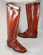 Vintage RALPH LAUREN Sz 6.5 Tall Riding Boots All-Leather Cognac Equestrian