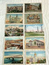 Lot 10 Vintage Postcards Color Linen Philadelphia KY Texas Utah DC GA Montreal