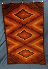 VINTAGE BLANKET TAPESTRY RUG 50X77 INCHES VERY GOOD CONDITION